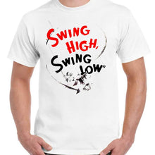 Swing High Swing Low - Unisex White T-Shirt - Geek Retro Fun Kitsch - Stack The Cards - [variant_title]