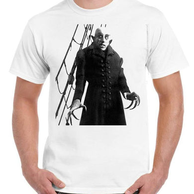Nosferatu Horror - Unisex White T-Shirt - Geek Retro Fun Kitsch - Stack The Cards - [variant_title]