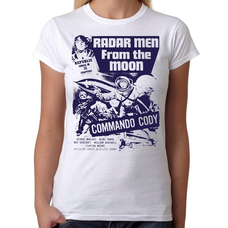 Radar Men From The Moon - Womens White T-Shirt - Geek Retro Fun Kitsch Cute - Stack The Cards - [variant_title]
