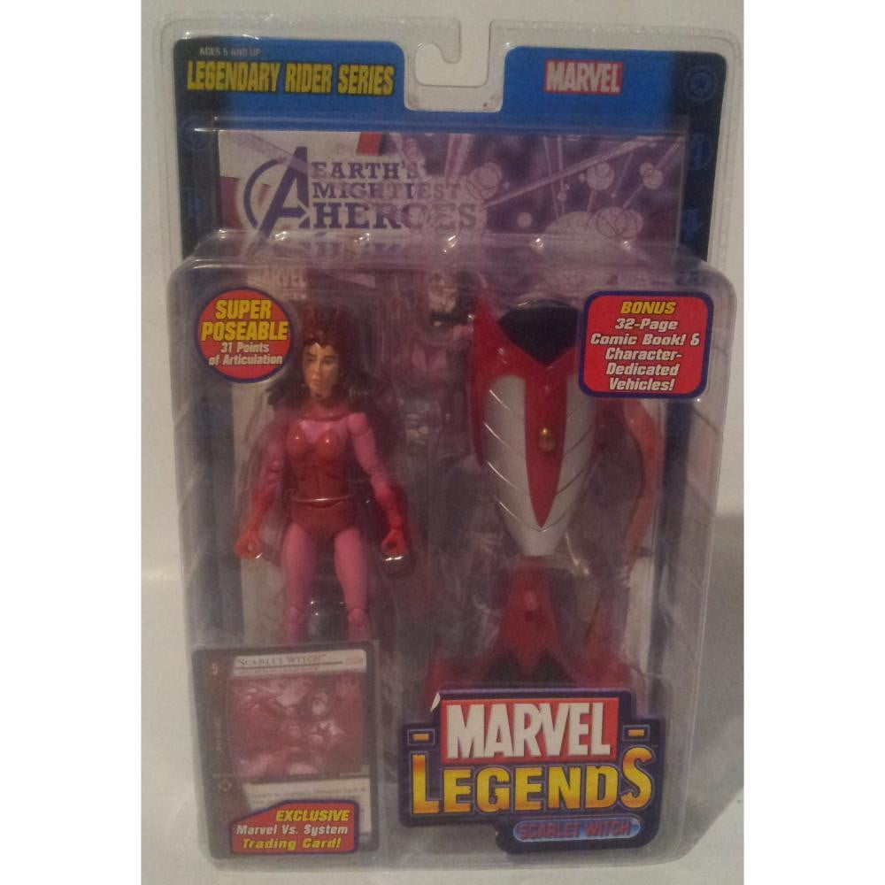 Marvel Legends Rider Series Scarlet Witch 2005 Action Figure Toy Biz - Stack The Cards - [variant_title]