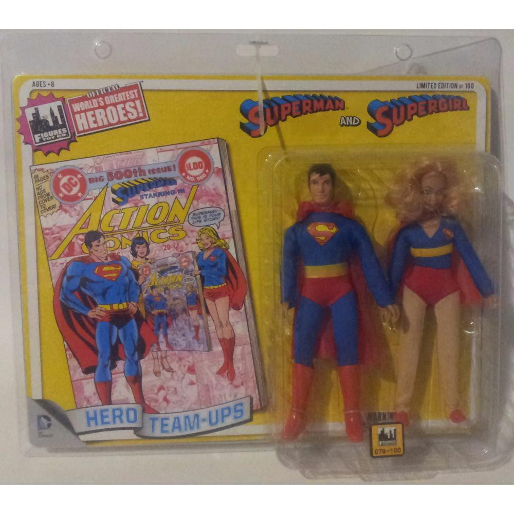Team Ups Superman & Supergirl Limited Edition 79 of 100 DC Comics 2014 Action Figure Set - Stack The Cards - [variant_title]