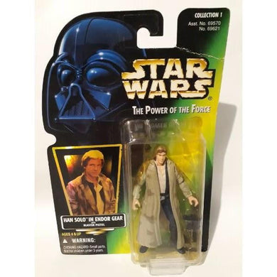 Han Solo Endor Gear Star Wars Action Figure Kenner 7014 Power of the Force - Stack The Cards - [variant_title]