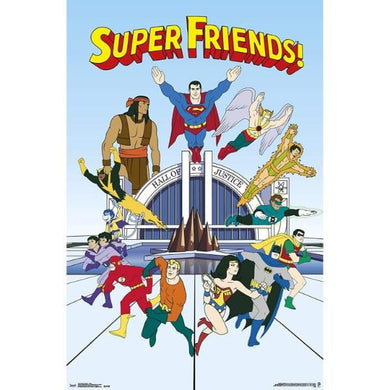 DC COMICS SUPER FRIENDS TEAM #29 - 60X90cms Official Wall Poster - Stack The Cards - [variant_title]
