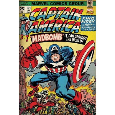 MARVEL CAPTAIN AMERICA MADBOMB #44 - 60X90cms Official Wall Poster - Stack The Cards - [variant_title]