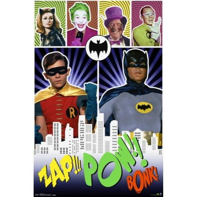 DC 1966 BATMAN ZAP POW #17 - 60X90cms Official Wall Poster - Stack The Cards - [variant_title]