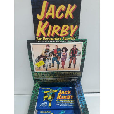 Jack Kirby Unpublished Archives Comic Images 1994 Trading Cards -Single Packet- - Stack The Cards - [variant_title]