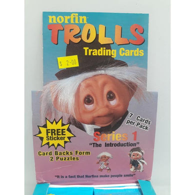 Norfin TROLLS Collect A Card 1992 Trading Cards -Single Packet- - Stack The Cards - [variant_title]