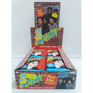 1987  21 Jump Street Topps Trading Stickers Cards -Single Packet- - Stack The Cards - [variant_title]