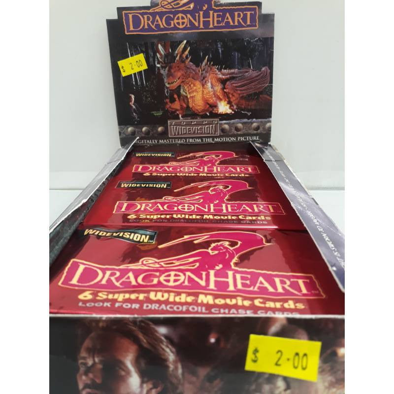 Dragonheart widevision movie Topps 1996 Trading Cards -Single Packet-