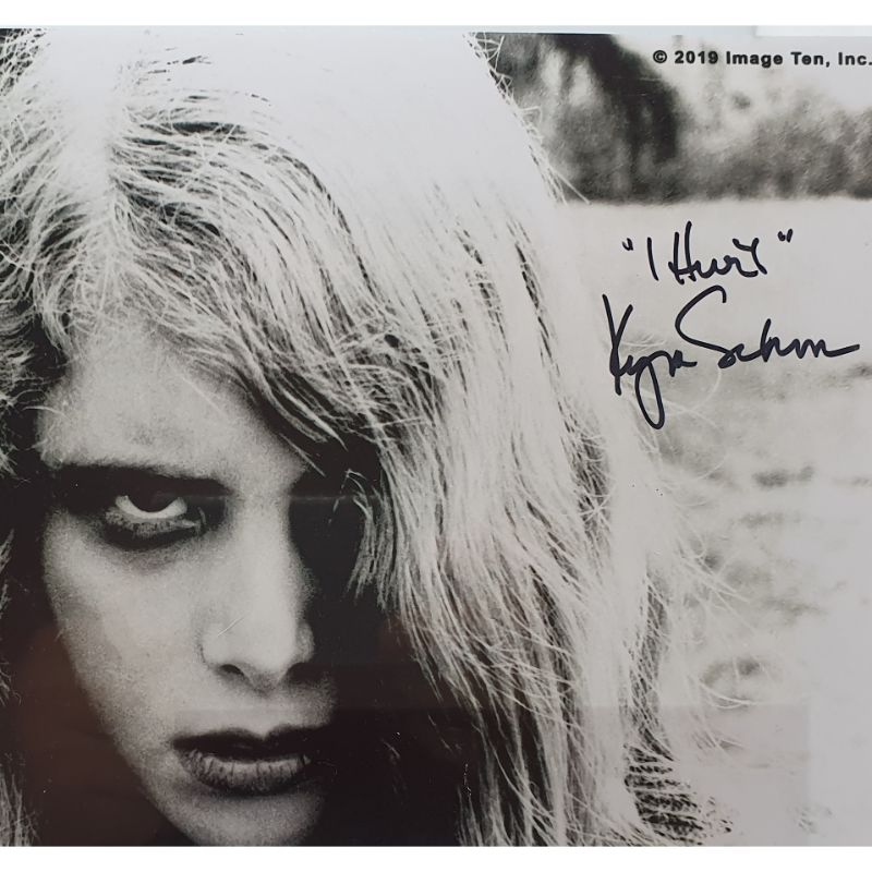 Kyra Schon Autograph 8x10 Photo Signed Night Of The Living Dead JSA COA