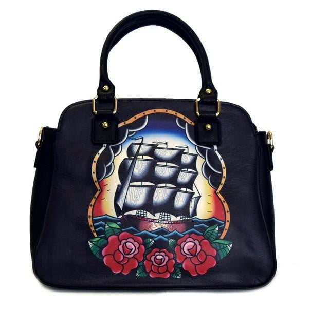 Sailing Ship Handbag - By Jubly Umph - Stack The Cards - [variant_title]