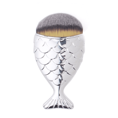 Silver Chubby Mermaid Brush by Mermaid Salon - Stack The Cards - [variant_title]