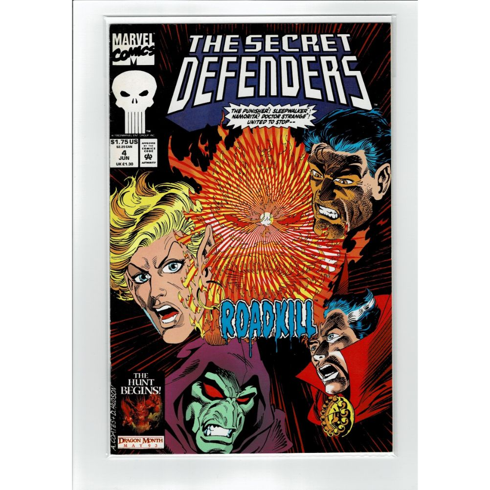 The Secret Defenders #4 Roadkill Marvel Comic Book