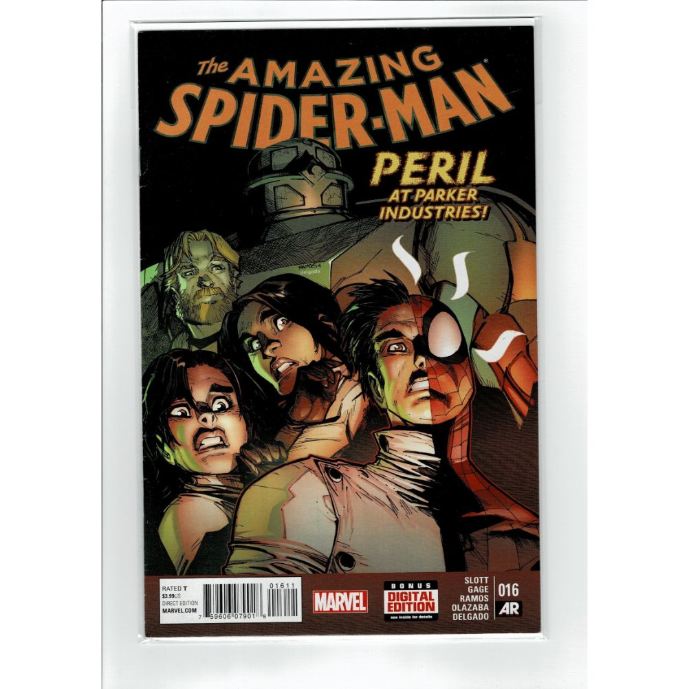 The Amazing Spider-Man #16 Peril at Parker Industries! Marvel Comic Book