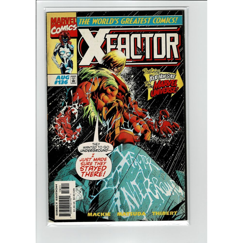 X Factor #136 Universe Guide Marvel Comic Book