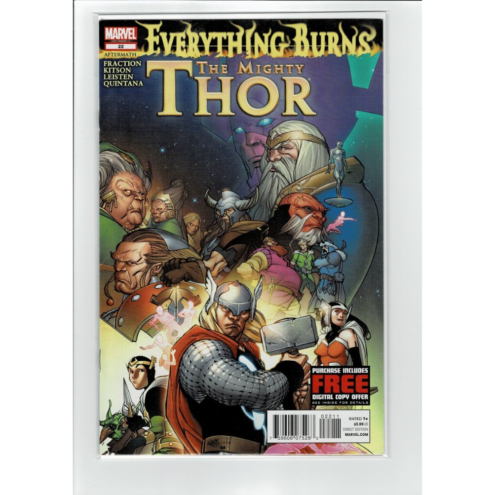The Mighty Thor #22 Everything Burns Marvel Comic Book