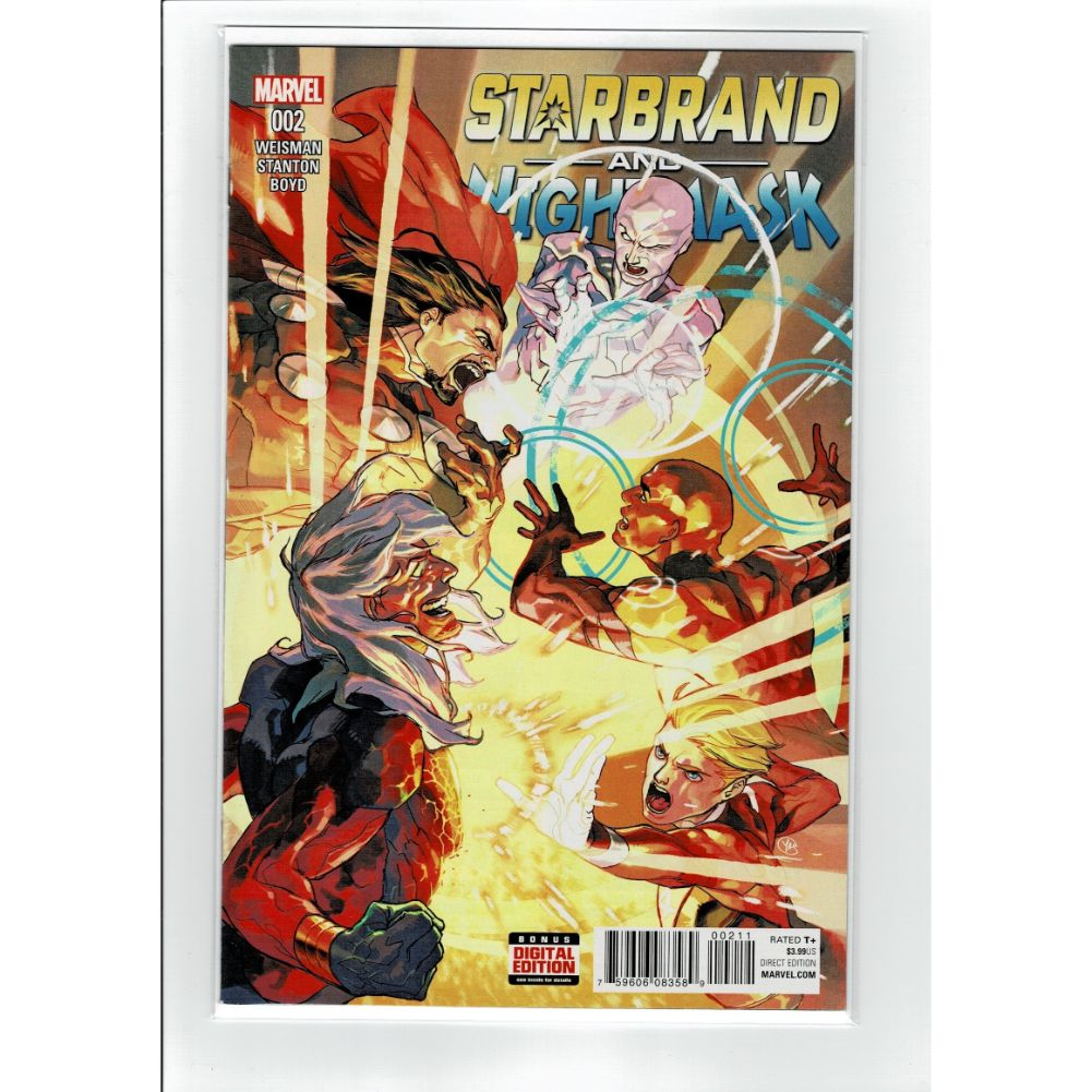 Starbrand and Nightmask #002 Marvel Comic Book