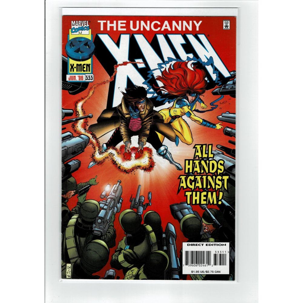 The Uncanny X-Men #333 All Hands Against Them Marvel Comic Book