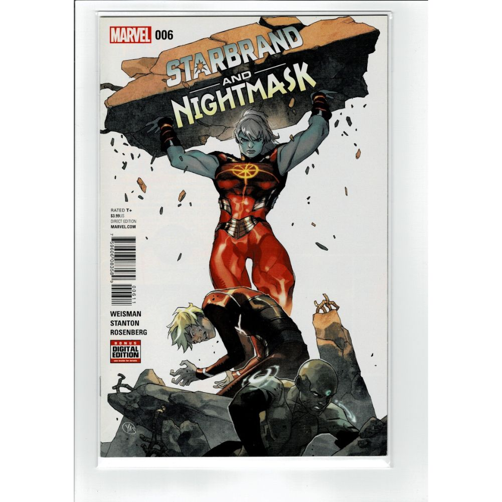 Starbrand and Nightmask #006 Marvel Comic Book
