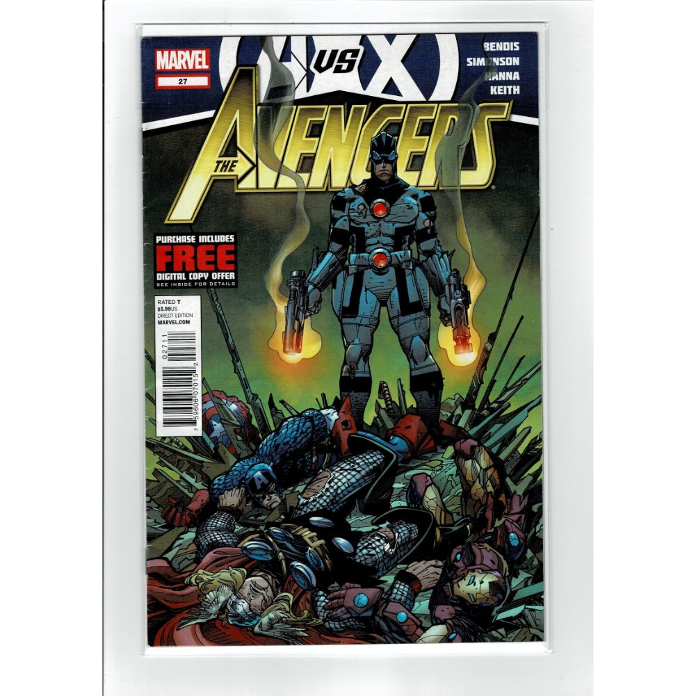 The Avengers #27 vs X-Men Marvel Comic Book