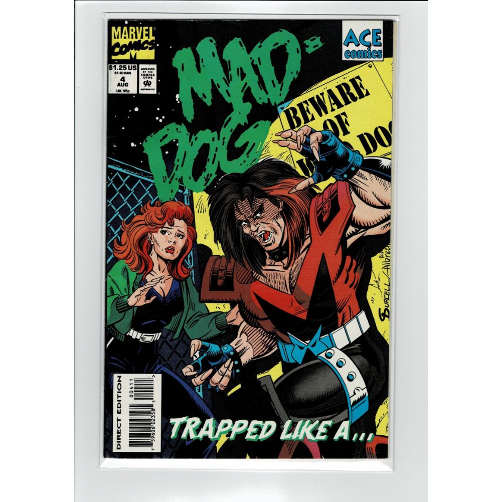 Mad-Dog #4 Trapped Like A... Ace Marvel Comic Book