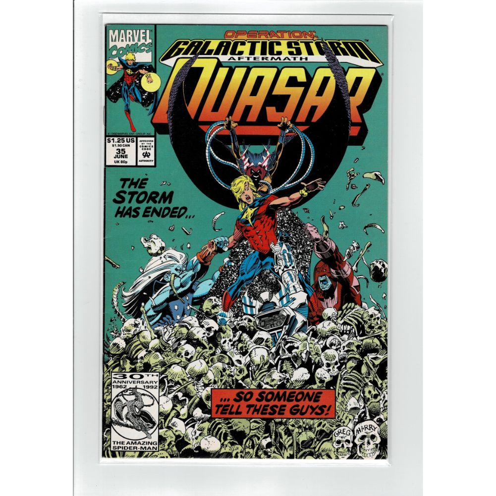 Quasar #35 The Storm Has Landed Marvel Comic Book