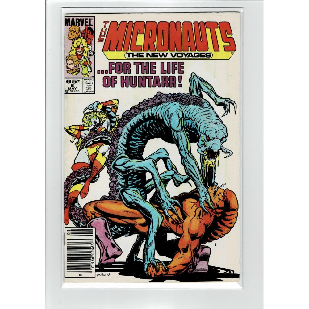 The Micronauts #8 The New Voyages Marvel Comic Book