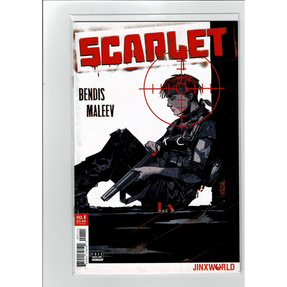 Scarlet #1 Bendis Maleev Jinxworld Comics Book