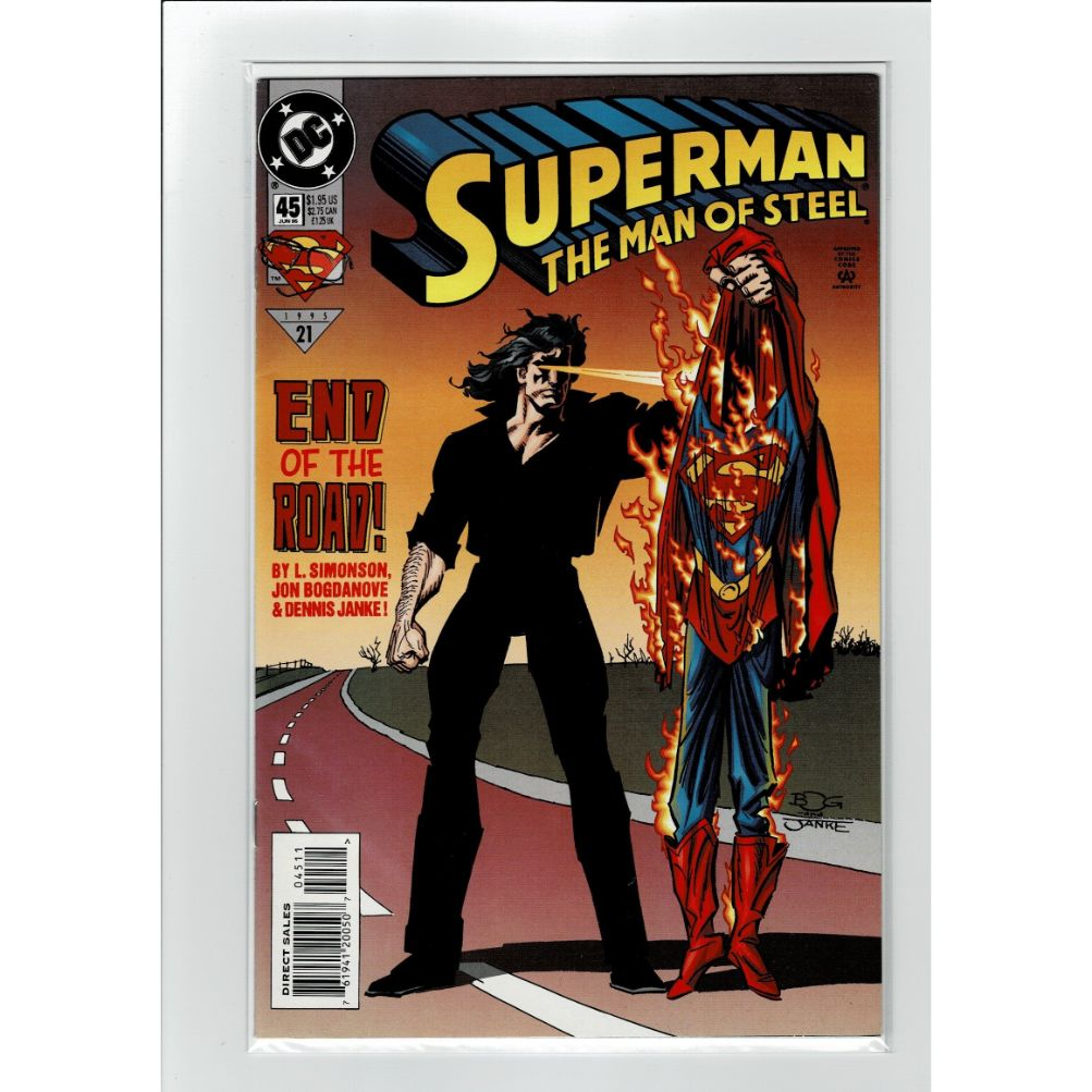 Superman The Man Of Steel #45 DC Comics Book