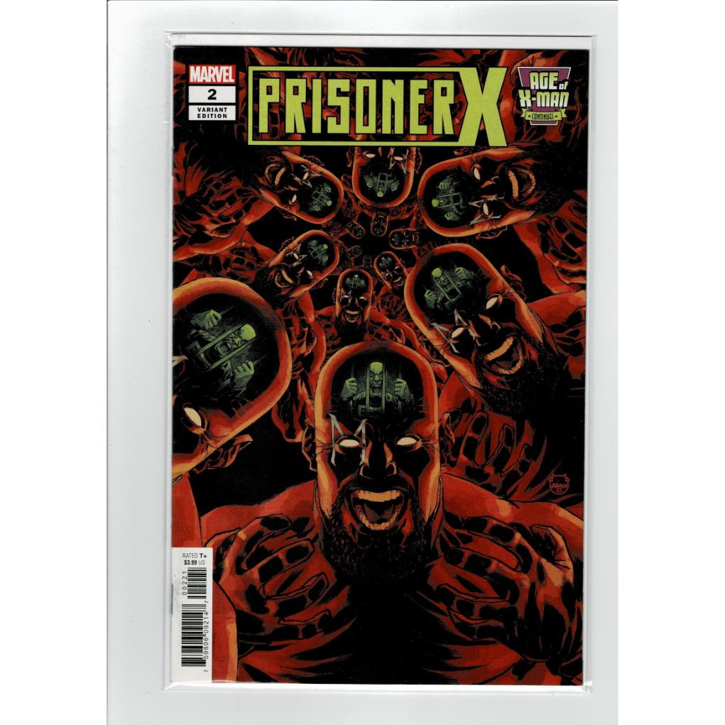 Prisoner X #2 1:25 Ratio Johnson Variant Marvel Comics Book