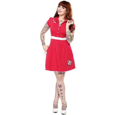 Puppy Love Rizzo Dress - By Sourpuss - Stack The Cards - [variant_title]