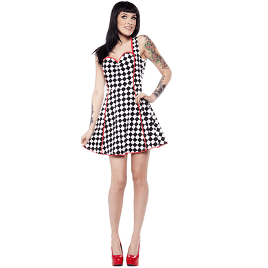 Speed Queen Lucille Dress - By Sourpuss - Stack The Cards - [variant_title]