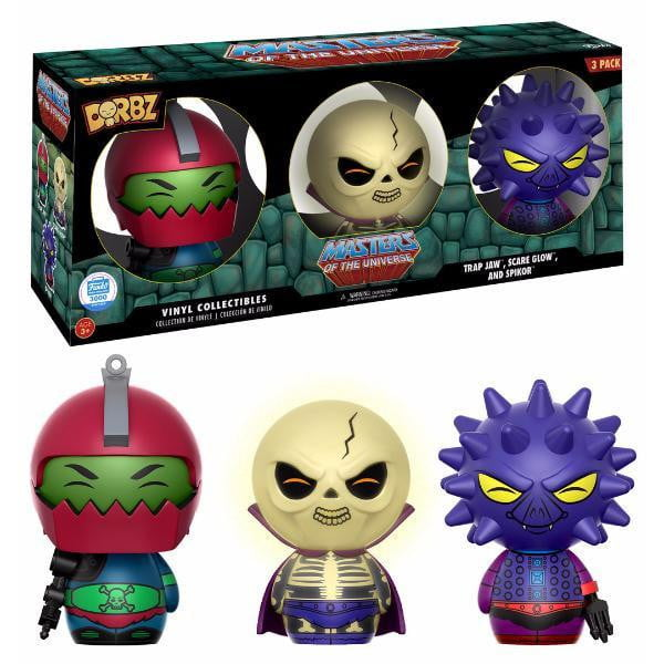 Trap Jaw, Spikor, Scare Glow 3 Pack Funko Dorbz LE3000 Funko Shop Exclusive Masters of The Universe