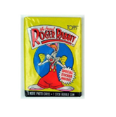1987 Who Framed Roger Rabbit Wax Pack Trading Cards by Topps -Single Pack - Stack The Cards - [variant_title]