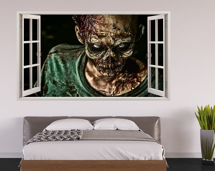 Scary Zombie Face Bedroom Decal Vinyl Wall Sticker A004