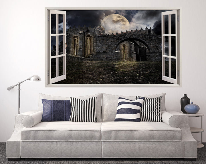 Castle Night Time Living Room Decal Vinyl Wall Sticker A006