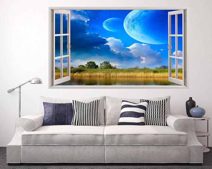 Futuristic Cool Sky Living Room Decal Vinyl Wall Sticker A013