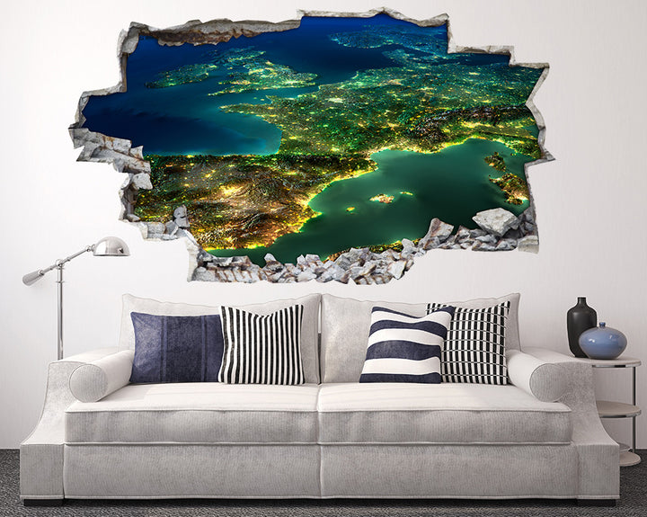 Cool World Lights Living Room Decal Vinyl Wall Sticker A014