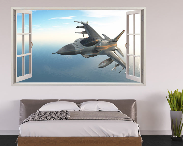 Army Spitfire Plane Bedroom Decal Vinyl Wall Sticker A024