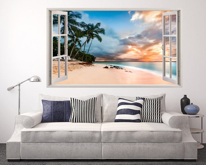 Paradise Beach Sunset Living Room Decal Vinyl Wall Sticker A028w