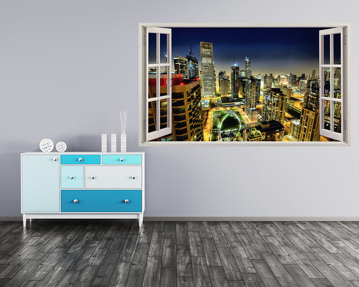 Cool City Night Offices Hall Decal Vinyl Wall Sticker A029w