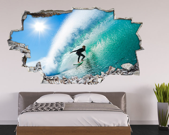 Cool Surf Sea Boy Bedroom Decal Vinyl Wall Sticker A034