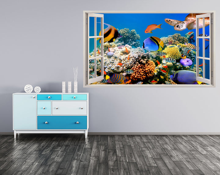 Colourful Coral Reef Hall Decal Vinyl Wall Sticker A039w