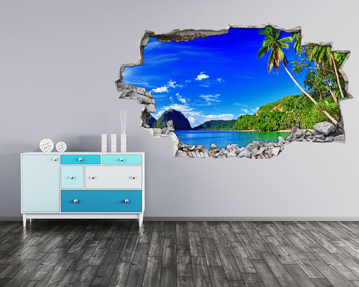Palm Tree Island Hall Decal Vinyl Wall Sticker A045