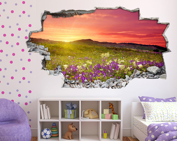 Scenic Sunset Country Girls Bedroom Decal Vinyl Wall Sticker A047