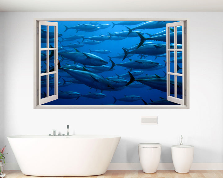 Large Fish Sea Bathroom Decal Vinyl Wall Sticker A049w