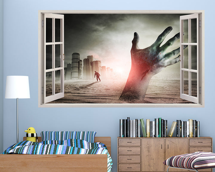 Zombie Hand Ground Boys Bedroom Decal Vinyl Wall Sticker A050w