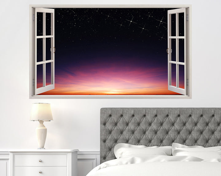 Beautiful Starry Sunset Bedroom Decal Vinyl Wall Sticker A054w