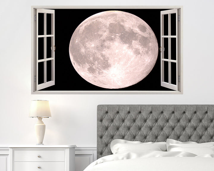 Close-Up Cool Moon Bedroom Decal Vinyl Wall Sticker A058w