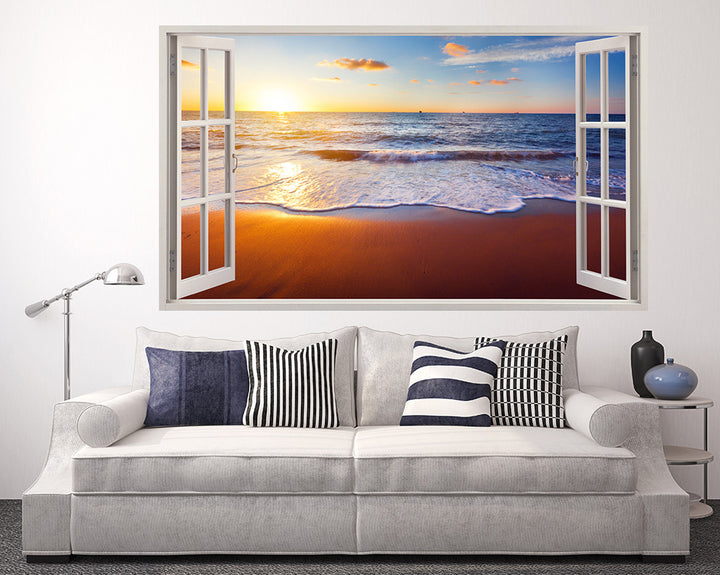 Beautiful Sea Beach Living Room Decal Vinyl Wall Sticker A062w